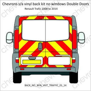 Renault Traffic Vauxhall Vivaro Double Doors Low Roof 2001 to 2014