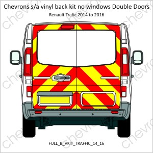 Renault Traffic Vauxhall Vivaro Double Doors Low Roof 2014 to 2016