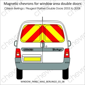 Berlingo / Partner Double Doors 2003 to 2008